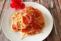 培根茄汁意面的做法