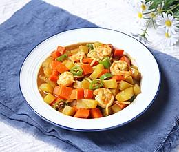 #豆果10周年生日快乐#鲜虾咖喱鱼面的做法