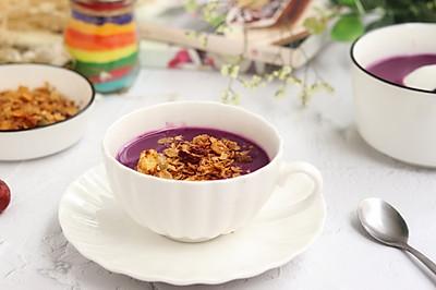 紫薯山药红枣米糊