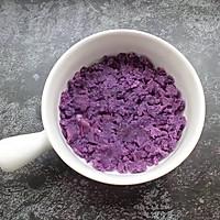 紫薯燕麦饼干的做法图解3