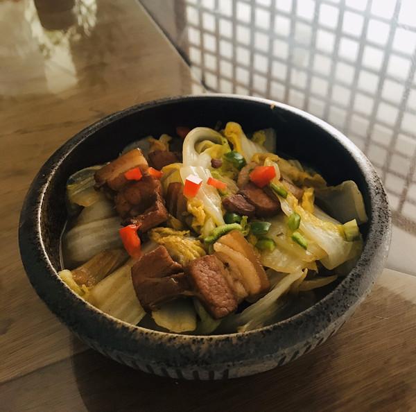 五花肉炖白菜的做法