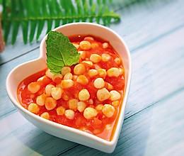 #一人一道拿手菜#快手减脂——茄汁玉米的做法