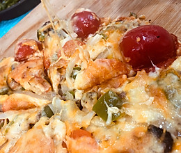 芝士洋葱牛肉披萨的做法