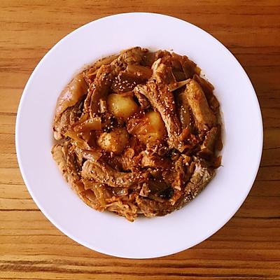 辣白菜排骨土豆炖 (韩国人家常菜)