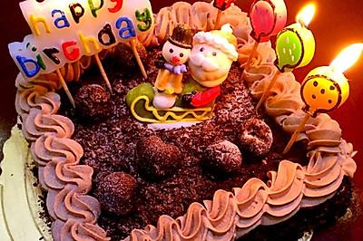 黑森林芝士蛋糕(6寸方形)