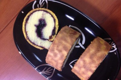 蓝莓果酱虎皮蛋糕卷