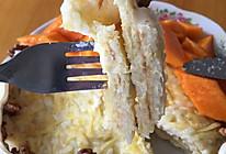 土豆丝剩饭芝士夹心饼的做法