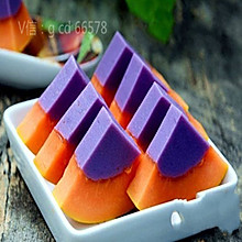 紫薯木瓜布丁