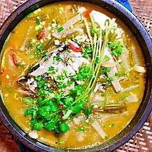 酸萝卜鱼头汤