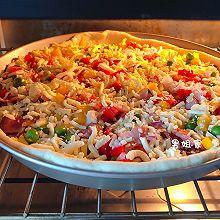 自制披萨~附披萨酱和饼坯做法