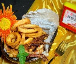 #一勺葱伴侣,成就招牌美味#香炸鱿鱼圈的做法