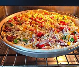 自制披萨~附披萨酱和饼坯做法的做法