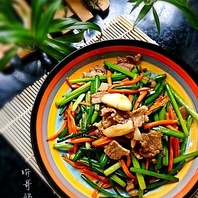 家常菜— —小炒韭苔