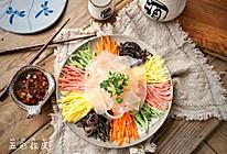 五彩拉皮#爽口凉菜,开胃一夏!#的做法
