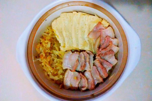 大喜大牛肉粉试用之冬日暖身之作——酸菜白肉的做法