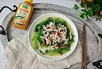 上汤皇帝菜(茼蒿)#太太乐鲜鸡汁蒸鸡原汤#的做法
