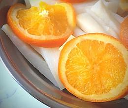 【橙子蒸山药】的做法
