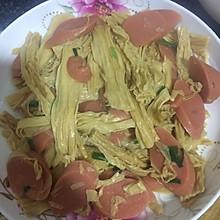火腿炒腐竹