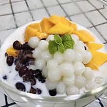 #换着花样吃早餐#芒果红豆汤圆牛奶(芒果牛奶、芒果酸奶)