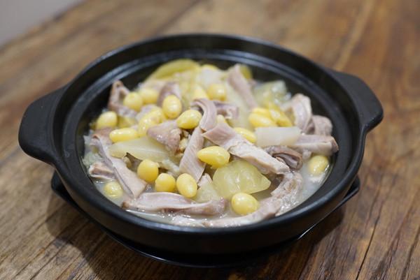 白果咸菜猪肚煲的做法