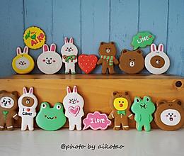【原创】布朗熊系列糖霜饼干~~萌萌哒!的做法