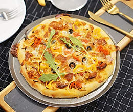 儿童节披萨情结|含水量超高披萨饼皮,隔夜发酵,好吃停不下手的做法