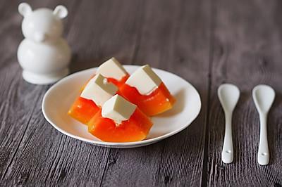 3步小食:颜值超高的木瓜奶冻