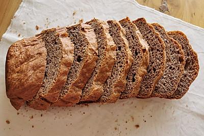 减脂期必备黑麦吐司(面包机版)