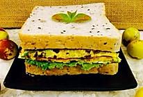 牛肉鸡蛋三明治的做法