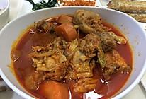 韩式土豆炖辣鸡块的做法