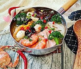 骨汤海鲜冒菜的做法