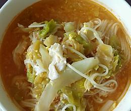 挂面汤的做法