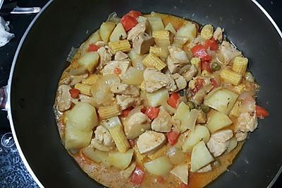 快速泰國紅加喱雞