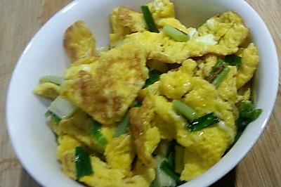 香葱炒土鸡蛋
