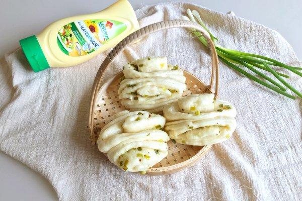 蛋黄酱葱花椒盐花卷#法国乐禧瑞,百年调味之巅#的做法