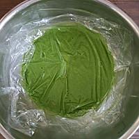 #柏翠辅食节_烘焙零食#抹茶蜜豆毛巾卷的做法图解11
