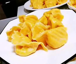 #舌尖上的端午#南瓜皮黄瓜鸡蛋虾仁水饺