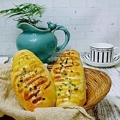 (一次发酵法)火腿肠早餐面包