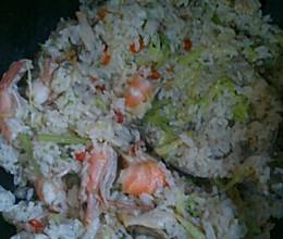 海鲜菜干饭的做法