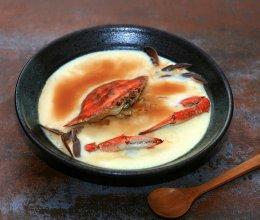 海蟹蒸蛋#方太蒸爱行动#的做法