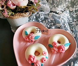 #餐桌上的春日限定#非油炸花朵甜甜圈~馒头的做法