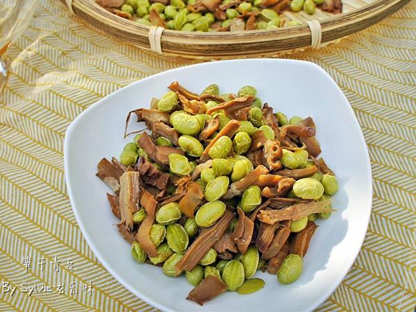 笋干青豆--春季时令小食的做法