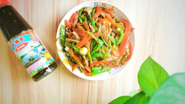 #李锦记旧庄蚝油鲜蚝鲜煮#双椒牛肉丝的做法