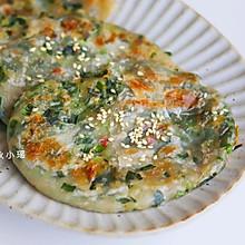 #夏日开胃餐#韭菜虾米薄饼 | 外酥内鲜(手抓饼版)