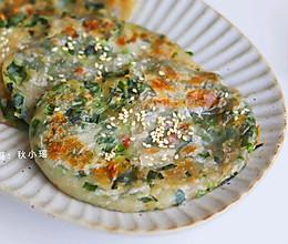 #夏日开胃餐#韭菜虾米薄饼 | 外酥内鲜(手抓饼版)的做法