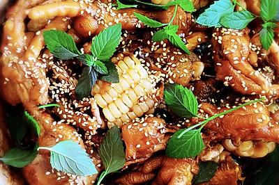江浙菜-大虾鸡脚焖锅