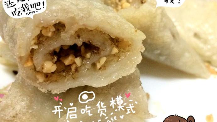 红糖花生香煎麻糍(糍粑)
