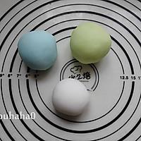 彩色冰皮月饼的做法图解4