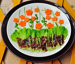 之白灼生菜#大喜大牛肉粉试用#的做法