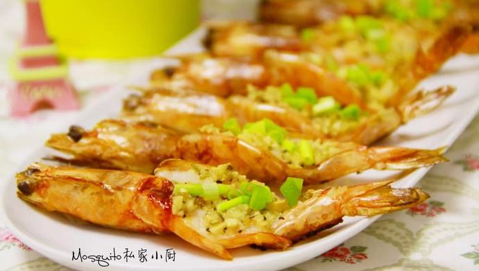 【蒜蓉迷迭香烤虾】#九阳烘焙剧场#烤箱试用#